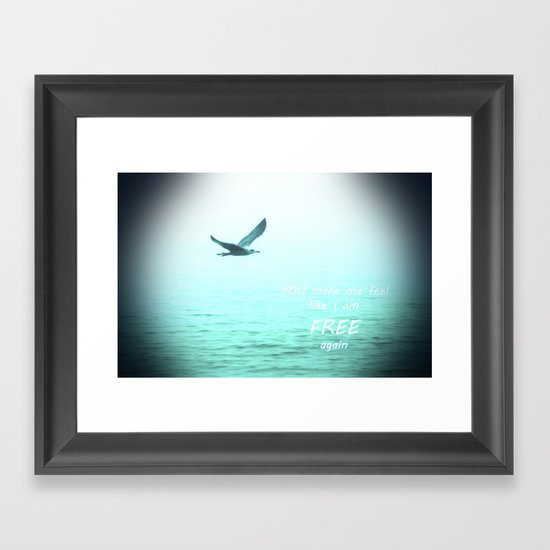 Free again Framed Art Print