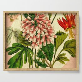 Pink Flowers  Serving Tray