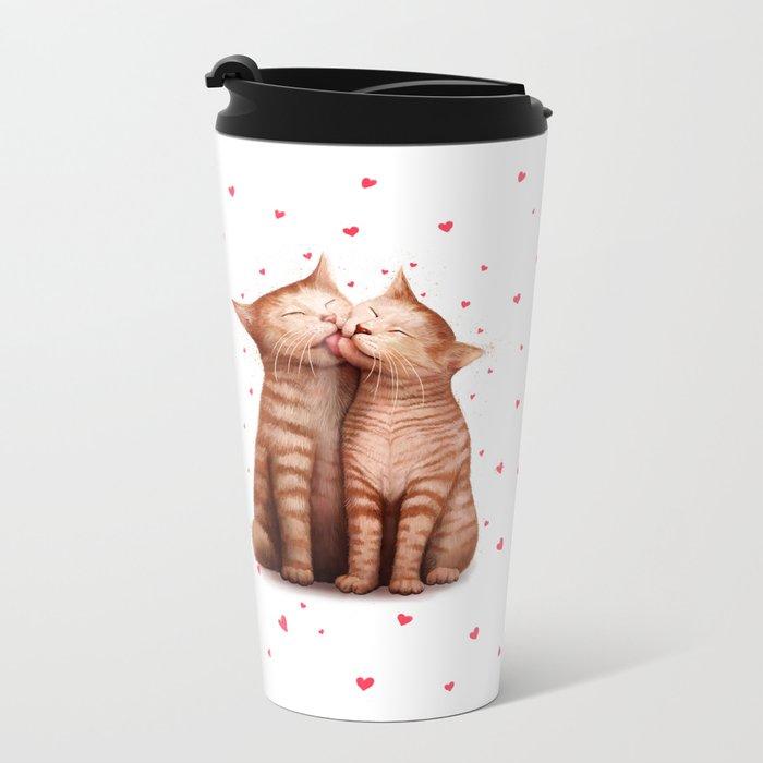 Love kittens Metal Travel Mug