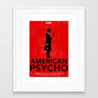 american psycho Framed Art Prints featuring American Psycho by Moustafa Hassan