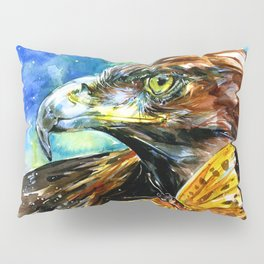 Golden Eagle And Butterfly by Kathy Morton Stanion Pillow Sham