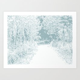 Walk in the Forest Art Print