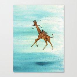 Scuba Giraffe Canvas Print