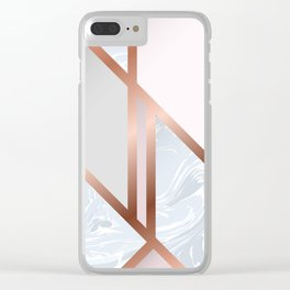 White Pastel Art Deco Clear iPhone Case