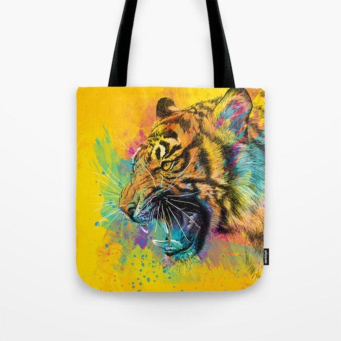 Angry Tiger Tote Bag