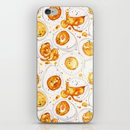 Cooked Eggs Watercolor iPhone Skin