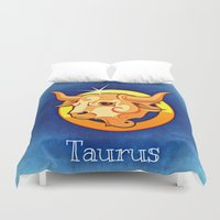taurus Duvet Covers featuring taurus by Mariedesignz