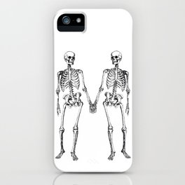 Two skeletons iPhone Case