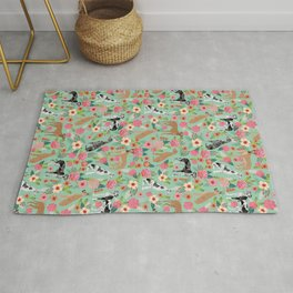 Great Dane floral dog breed pet friendly pet pattern great danes pure breed Rug
