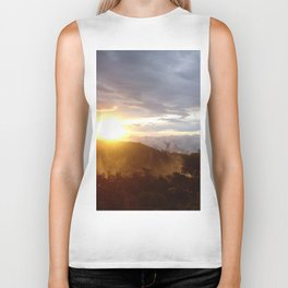 Sunset over the jungle in Costa RIca Biker Tank