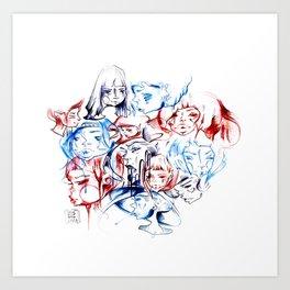 g i r l s -  g i r l s -  g i r l s . 2013 Art Print