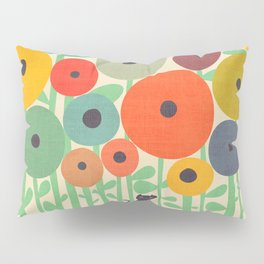 Cat in flower garden Pillow Sham