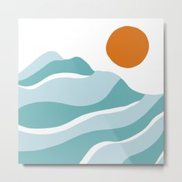 blue mountain sunset Metal Print