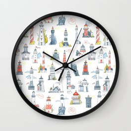 Lighthouses Wall Clock