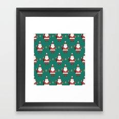 Day 10/25 Advent - Folding Santa Framed Art Print