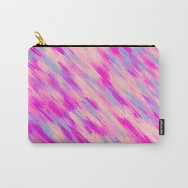 pink purple and blue painting abstract background Carry-All Pouch