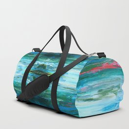 Abstract Ice Pattern Duffle Bag
