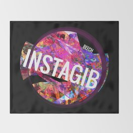 INSTAGIB Album Cover Throw Blanket