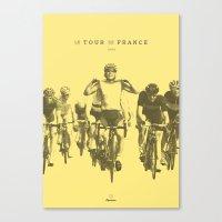 tour de france Canvas Prints featuring Tour de France by Espresso Cycling