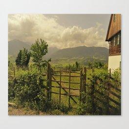 farmerhouse in the mountains Canvas Print