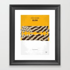 No693 My Blow minimal movie poster Framed Art Print