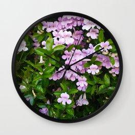 Violet Trumpets Wall Clock