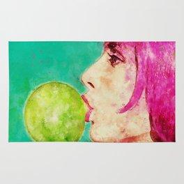 Bubble gum girl Rug
