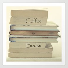Coffee & Books Art Print
