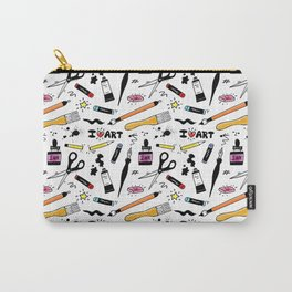 I Love Art Supplies Carry-All Pouch