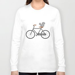 Squirrel Riding Bike Long Sleeve T-shirt