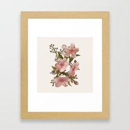 Blush Pink Watercolor Flowers Artwork Framed Art Print