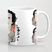 edgar allan poe Mugs featuring Edgar Allan Poe II by Bradlee254