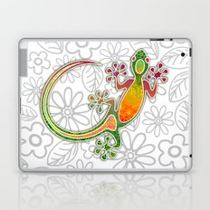 Gecko Floral Tribal Art Laptop & iPad Skin