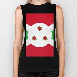 Burundi Flag Biker Tank