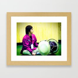 playing the jang-gu Framed Art Print