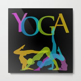 Yoga addicts Metal Print