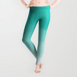 Aqua Watercolor Ombre Leggings