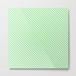 light green merci stripe Metal Print
