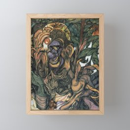 Hello Framed Mini Art Print