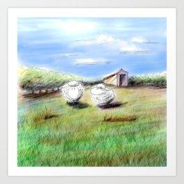 Shiny Virtual Sheep Art Print