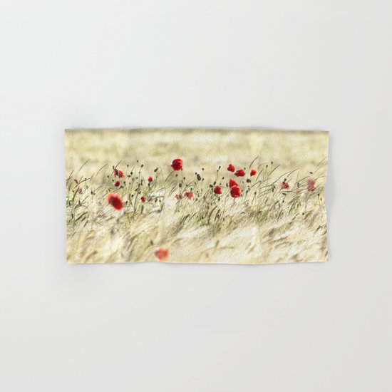 A POPPY  POEM Hand & Bath Towel
