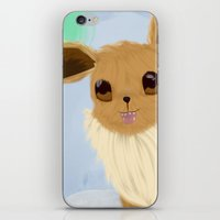 eevee iPhone & iPod Skins featuring Eevee in the Clouds by Jessika