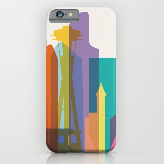 Shapes of Seattle accurate to scale iPhone & iPod Case