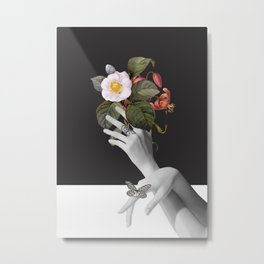 Hands With Flowers Metal Print