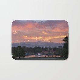 Mount Evans Sunset Bath Mat