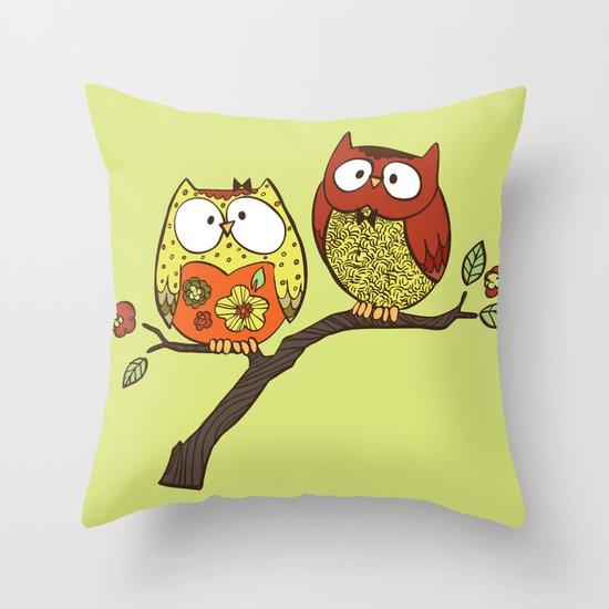 Decorative Owls Throw Pillow