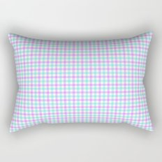 Gingham purple and teal Rectangular Pillow
