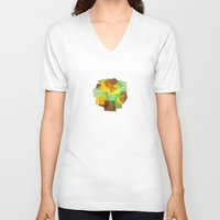 earth V-neck T-shirts featuring Earth by Creative Brainiacs