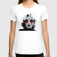 marylin monroe T-shirts featuring Marylin de los Muertos 4 by jazzyjules63