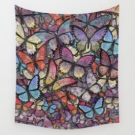 butterflies aflutter colorful version Wall Tapestry